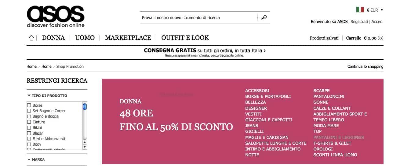 Asos Italia shop online