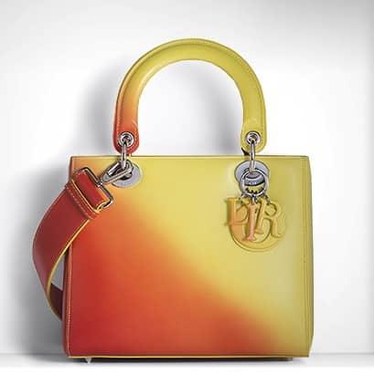 Borsa arancione Lady DIor