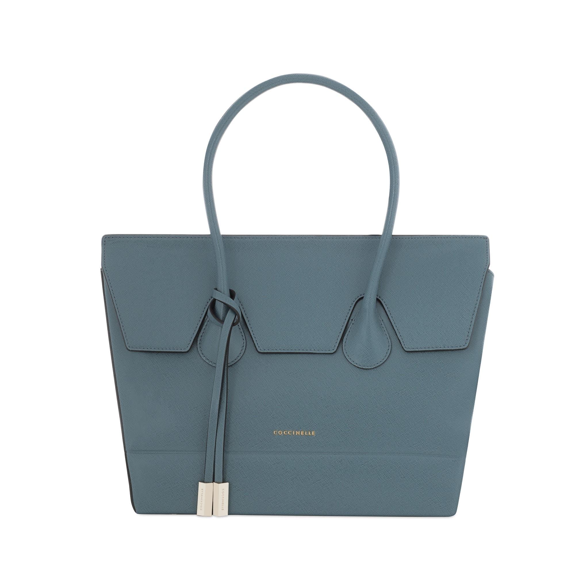 Coccinelle shopping bag saffiano topazio 290.00 euro