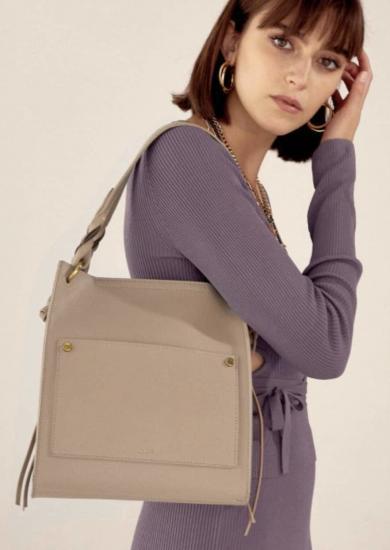 Nalì borsa a spalla colore beige collezione autunno