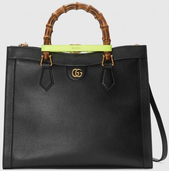 Borsa in pelle nera di Gucci modello Diana autunno inverno