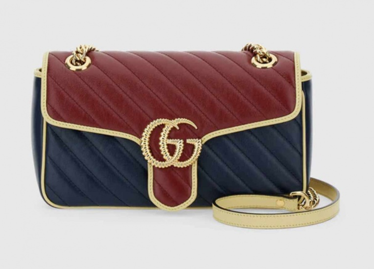 Linea Gucci Beloved borsa Marmont blue e rossa