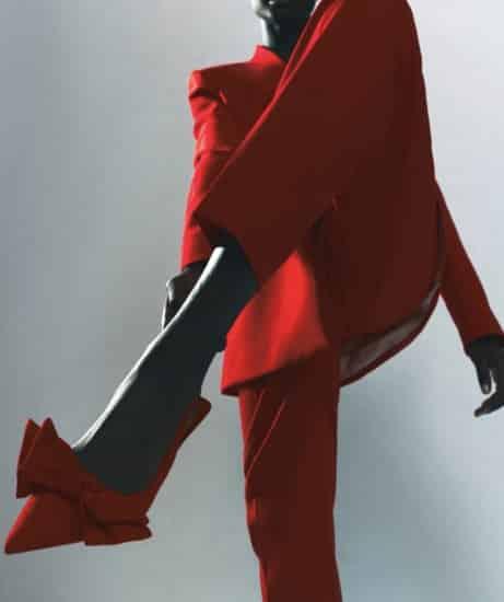 Slingback con fiocco rosse di Zara