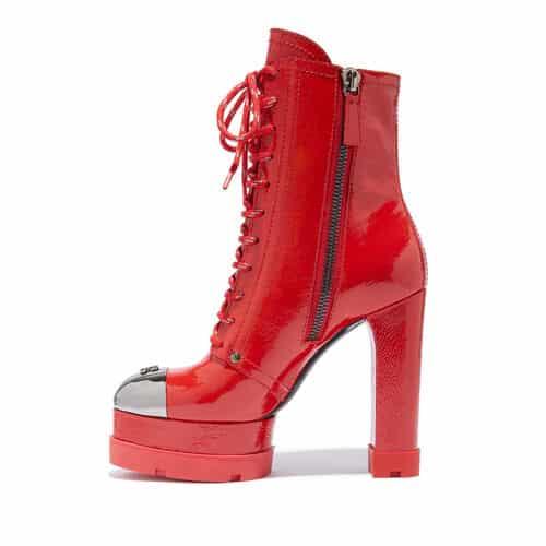 Stivaletto casadei 2021 2022 glamour rosso