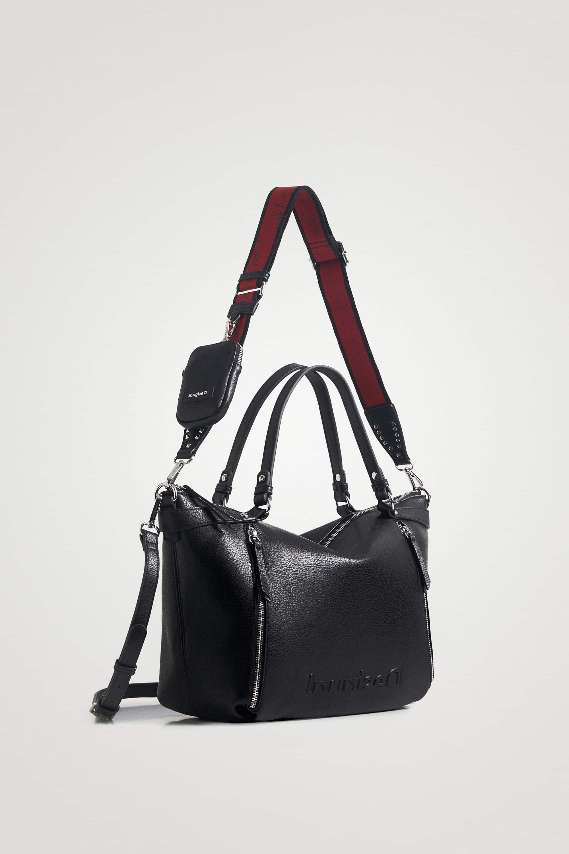 desigual borsa nera con manici e tracolla autunno inverno